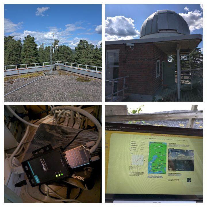 Vaisala weather station at Hämeenlinna observatory.